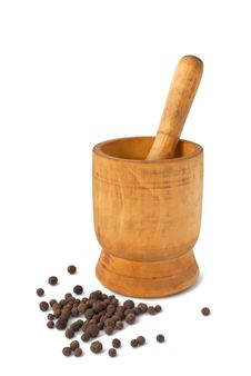 Free Mortar With Pestle And Peppercorns Royalty Free Stock Photo - 17752955