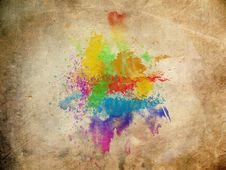 Free Water Color On Old Paper Texture Royalty Free Stock Photography - 17753267