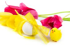 Free Easter Eggs And Tulips Stock Photos - 17753273