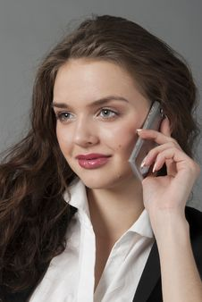 Free The Young Beautiful Girl Speaks By Phone Stock Photo - 17753360