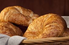 Free Freshly Made Breads Croissant Served For Breakfast Royalty Free Stock Images - 17753389