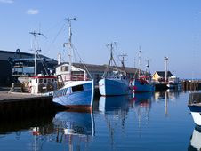 Free Fishing Boats In A Port Stock Image - 17753401