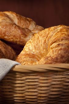 Free Freshly Made Breads Croissant Served For Breakfast Royalty Free Stock Photos - 17753418