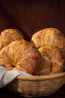 Free Freshly Made Breads Croissant Served For Breakfast Royalty Free Stock Photos - 17753488
