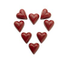 Free Heart-shaped Praline (clipping Path) Stock Images - 17753514