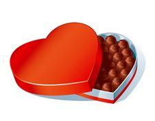 Free Chockolate Heartbox Stock Images - 17754004