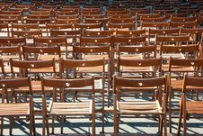 Free Lots Of Wooden Chairs Royalty Free Stock Photos - 17754118