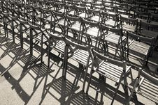Free Lots Of Wooden Chairs Royalty Free Stock Images - 17754139