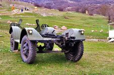 Free Remnants Of An Old Military Jeep Stock Photography - 17754152