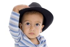 Free Cute Little Boy With Hat Stock Image - 17754331
