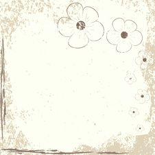 Free Grunge Background Of Flowers Stock Image - 17755681