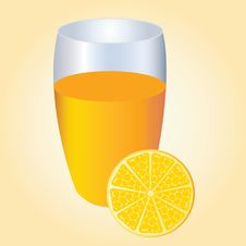 Orange And Orange Juice. Royalty Free Stock Photo