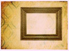 Photoframe On Vintage Paper Royalty Free Stock Photos