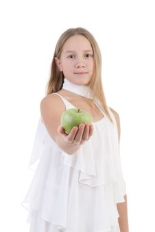 Free The Girl With An Apple Stock Images - 17755854