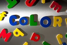 Free Color Letters Stock Photography - 17755872