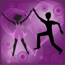Free Couple On A Purple Background Royalty Free Stock Photos - 17755888