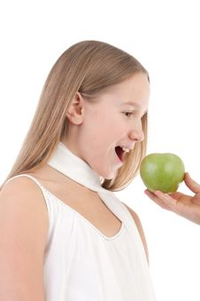 Free The Girl With An Apple Stock Photography - 17755912
