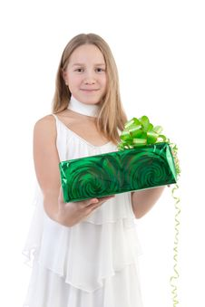 Free The Girl With A Gift Stock Image - 17755921