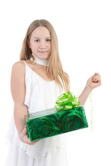 Free The Girl With A Gift Royalty Free Stock Photos - 17755938