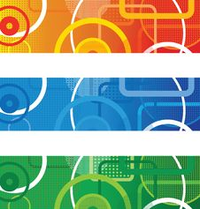 Free Abstract Circle Banners Stock Photos - 17756033