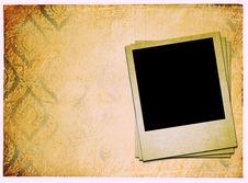 Photoframe On Vintage Paper Royalty Free Stock Photo