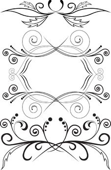 Free Set Of Symmetric Ornaments Royalty Free Stock Photography - 17756047