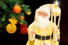Free Golden Santa Claus Stock Images - 17756194