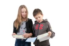 Free Children Study The Documents Royalty Free Stock Images - 17756229
