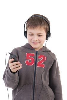 Free The Boy Listens To Music Stock Photography - 17756312