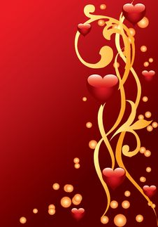 Free Ornament With Hearts Royalty Free Stock Photography - 17756317