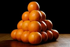 Free Oranges On Wooden Table Stock Photo - 17756870