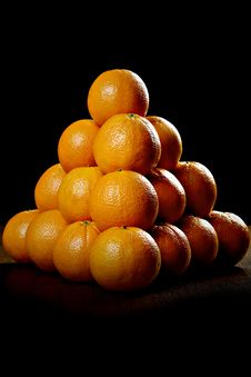 Free Oranges On Wooden Table Stock Photography - 17756882
