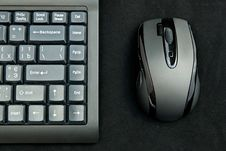 Black Keyboard And Mouse Royalty Free Stock Photography