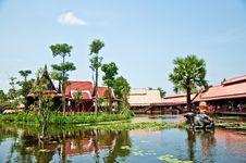 Free The Ayothaya Floating Market Stock Photo - 17757130