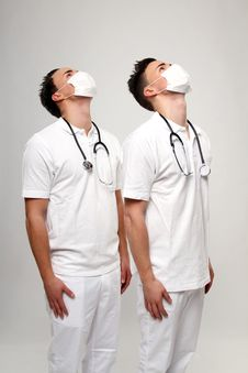 Free Twin Doctors Royalty Free Stock Photography - 17757137