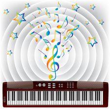 Free Electronic Piano. Stock Photo - 17757280