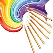 Free Drawing Pencils. Royalty Free Stock Photos - 17757398
