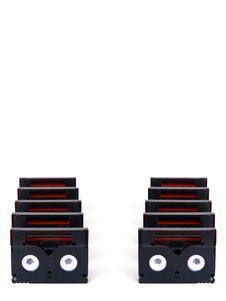 Mini DV Tapes Isolated On White Background Stock Image
