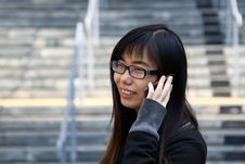 Free Chinese Girl Who Is Talking In Phone Stock Photos - 17758443