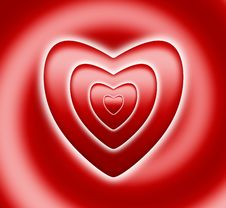 Free Red Heart On Spiral Stock Photos - 17758523