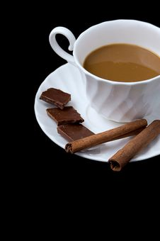 Free Cup Of Cappuccino, Cinnamon And Chocolate Stock Photos - 17759323