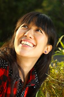 Free Asian Girl Who Is Smiling Royalty Free Stock Photo - 17759525
