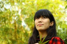 Free An Asian Girl Who Is Thinking Stock Image - 17759561
