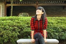 Free An Asian Girl Who Is Waiting Royalty Free Stock Images - 17759689