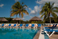 Free By The Pool In A Tropical Resort Royalty Free Stock Photos - 17763228
