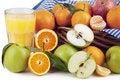 Free Orange Juice, Oranges And Apple Royalty Free Stock Images - 17763329