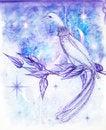 Free A Bird On A Branch Royalty Free Stock Photos - 17764948