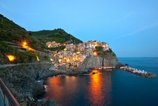 Free Manarola After Sunset Royalty Free Stock Images - 17760609