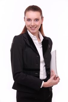 Portrait Of Positive Young Business Woman. Stock Photography