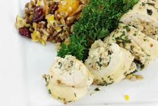 Free Chicken Roulade And  Pilaf Royalty Free Stock Photography - 17761927